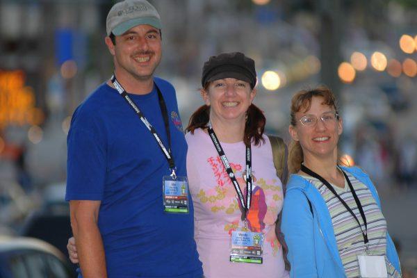 Alan, Wendy, Joanne @ Anime Expo '07, Long Beach Convention Center