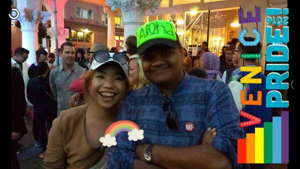 Rebecca & Kamal @Venice Pride