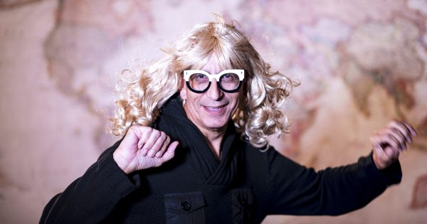 Glenn Zucman in a blonde wig