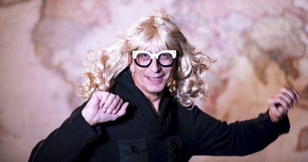 Glenn Zucman in a blonde wig